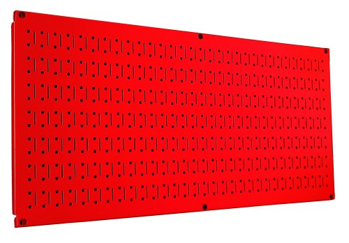 Wall Control Pegboard 16In X 32In Horizontal Red Metal Pegboard Tool Board Panel