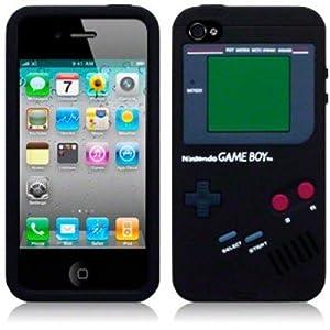 OnlineBestDigital - Gameboy Art 3D Silikon Hülle / Tasche Hülle / Schutzhülle für Apple iPhone 4S / 4 - Schwarz