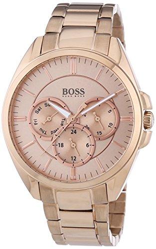 Hugo Boss  0 - Reloj de cuarzo para mujer, con correa de acero inoxidable, color dorado