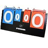 Portable Tabletop Multifunctional Scoreboard For Sports Games Black