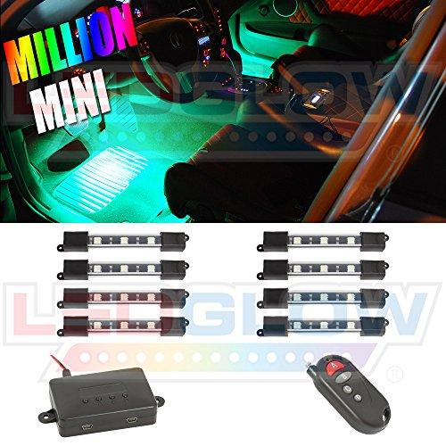 8Pc. Expandable Million Color Smd Mini Interior Light Kit