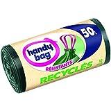 Handy Bag - 3557880400064 - Sacs Poubelle à Poignées Coulissantes Recyclés - 50 L - 68 x 73 cm - x 10 sacs - Lot de 2