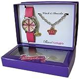 Ravel - R3303 - Coffret Cadeau - Montre Fille - Quartz Analogique - Bracelet Plastique Rose + Bracelet Anglais