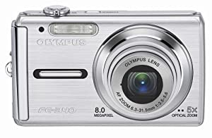 Olympus FE-340 8MP Digital Camera with 5x Optical Zoom (Silver)