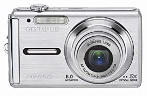 Olympus FE-340 8MP Digital Camera with 5x Optical Zoom (Silver)