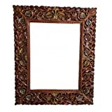 Wooden Mirror/Photo Frame with Antique Look