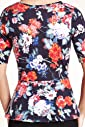 Pure Cotton Floral Print Peplum Top [T41-2636D-S]