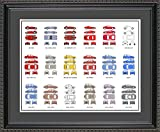 Lancia Automobile Collection Framed Wall Art | Years and Models Auto Car Gift