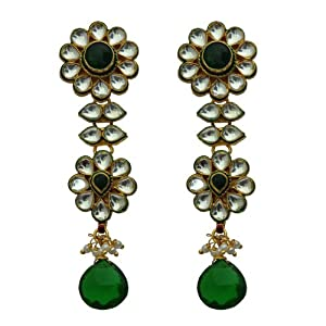 Sia Women Girls Earrings SL 1347 Green