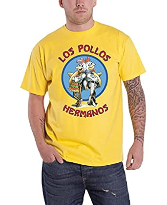 Breaking Bad Los Pollos Official Mens New Yellow T Shirt All Sizes