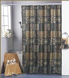 shower curtain animal zebra leopard jungle