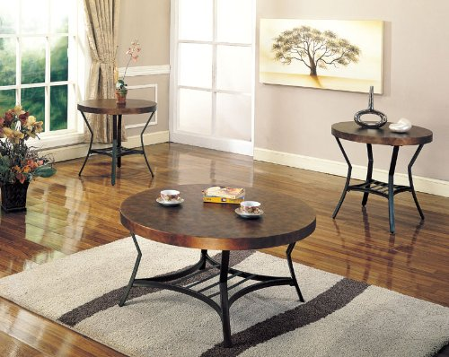 Cheap Bernardina End Table with Metal Base and Wood Top (B003XRFTN0)