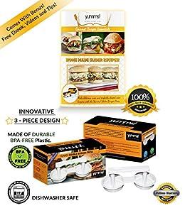 Yumms! Double Slider Mini Appetizer Burger Press Hamburger Patty Maker