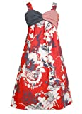 Bonnie Jean Big Girls Red White Blue Twist Front Americana Patriotic Dress