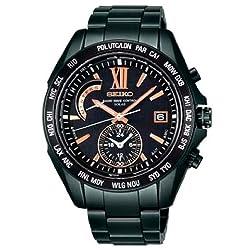 [セイコー]SEIKO 腕時計 BRIGHTZ ブライツ ワールドタイム 電波ソーラー ブライトチタン ブラックダイヤル ブラックIP ネット/量販店流通限定 【数量限定】 SAGA101 メンズ