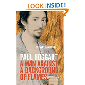 A Man Against a Background of Flames