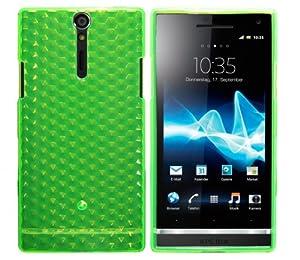 Luxburg® Housse Etui Coque Sony XPERIA S silicone case TPU Vert émeraude