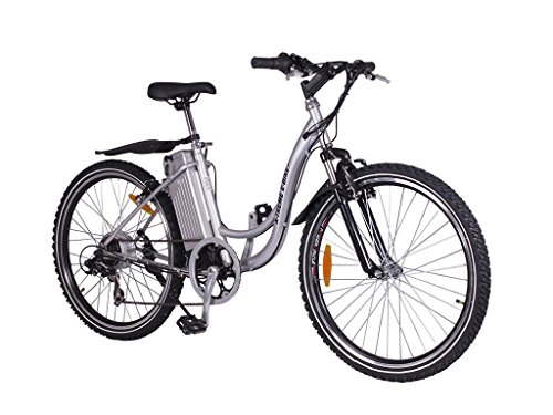Ladies Electric Mountain Bicycle - Silver