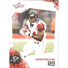 Jason Snelling - Atlanta Falcons - 2010 Score Football Card - NFL Trading Card in...