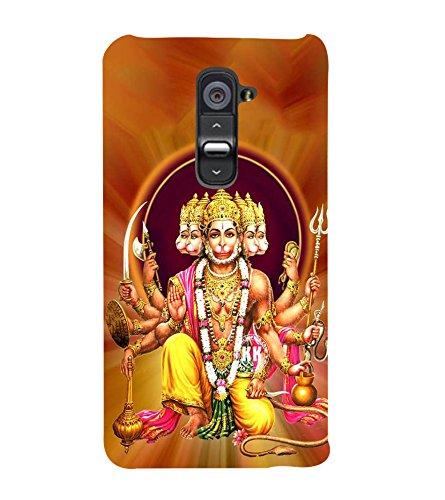 FUSON Lord Panchamukhi Hanuman 3D Hard Polycarbonate Designer Back Case Cover for LG G2 :: LG G2 Dual D800 D802 D801 D802TA D803 VS980 LS980  available at amazon for Rs.397