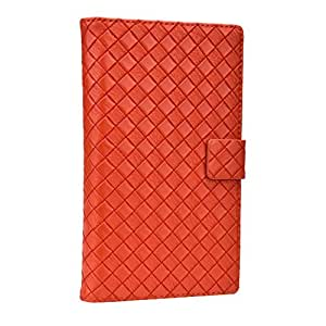 J Cover Bali Series Leather Pouch Flip Case For Intex Aqua 3G Pro Q orange