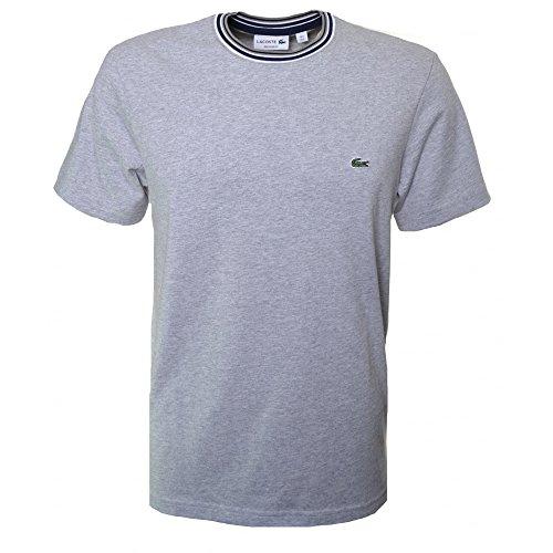 Lacoste -  T-shirt - Collo a U  - Maniche corte - Uomo grigio 6