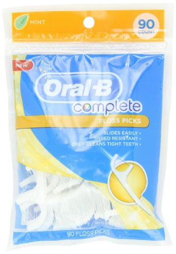 Oral-B Complete Floss Picks Mint 90 Count - Import It All