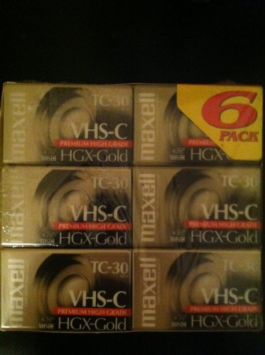 Best Price Maxell VHS-C Camcorder, HGX-Gold TC-30, 6-Pack