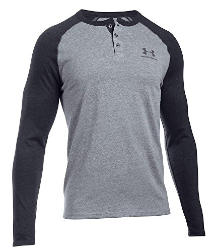 Under Armour Triblend Colorblock Henly T-Shirt, L, Greyhound Heather