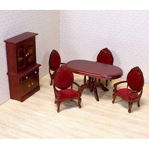 Melissa & Doug Deluxe Dollhouse Dining Room Furniture
