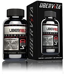 Ubervita Uberabs Abdominal Muscle Toner And Targeted Thermogenic Fat Burner Capsules 60 Count by Ubervita
