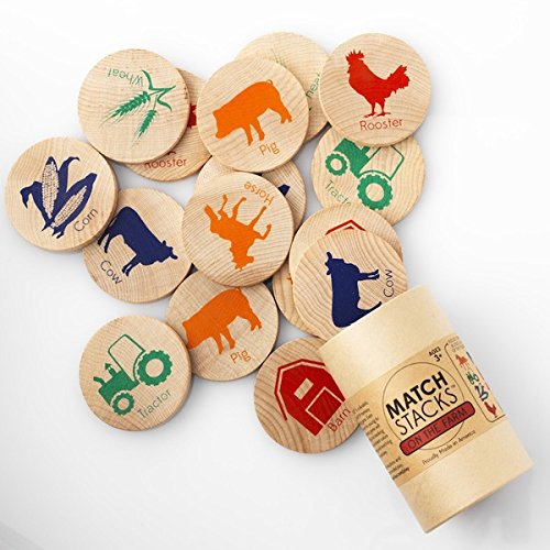 Tree Hopper Toys - On The Farm Match Stacks
