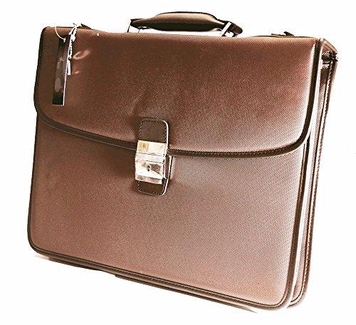 Katana-Borsa a tracolla, in tela, 3-Soffietto, colore marrone