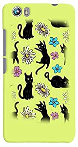 PrintVisa Cartoon Cats Case Cover for Micromax Canvas Fire 4 A107