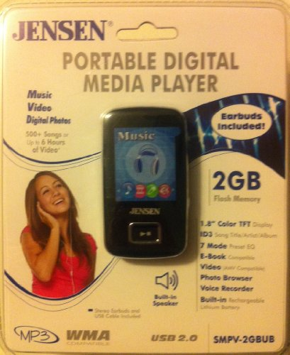 JENSEN Portable Digital Media Player 2GB SMPV-2GBUB