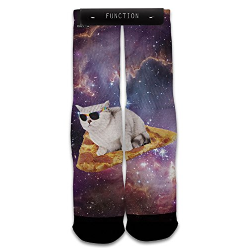 Function - Pizza Galaxy Cat Surfing Sock