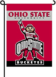NCAA Ohio State Buckeyes 2-Sided Brutus Garden Flag