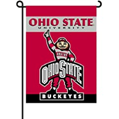 Buy NCAA Ohio State Buckeyes 2-Sided Brutus Garden Flag by BSI