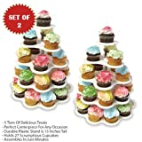 CUPCAKE STAND-5 TIER EACH HOLDS 27 CUPCAKES (SET OF 2)