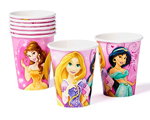Disney Princess 9oz Paper Party Cups, Pack of 8, Party Supplies - 1