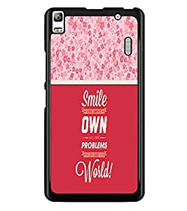 PrintDhaba Quote D-3292 Back Case Cover for LENOVO A7000 PLUS (Multi-Coloured)