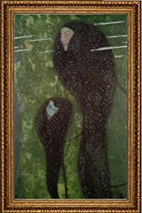 "Gustav Klimt Mermaids - 16"" x 24"" Framed Premium Canvas Print"