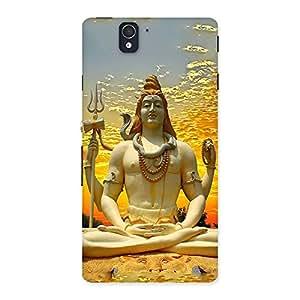 Cute Shiva Samadhi Print Back Case Cover for Sony Xperia Z