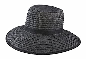 San Diego Hat Company Women's Paper Sun Hat O/S Black