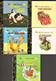 img - for Little Little Golden Books - Books 1-5: The Poky Little Puppy, Fire Engines, The Little Red Hen, The Saggy Baggy Elephant, Scuffy the Tugboat book / textbook / text book