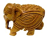 Pure Wooden Material Elephant in Fine Finishing Handicraft and Decorative art by Bharat Haat BH04463