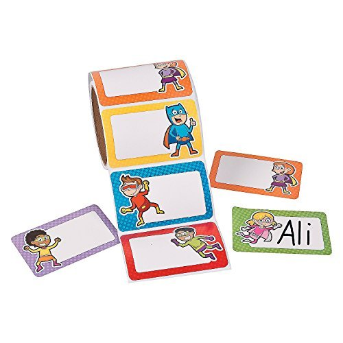 Superhero Name Tags (100 Pieces)School supplies/Stationary/Functions by FX - 1