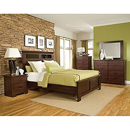Marshall Merlot Panel Bedroom Set