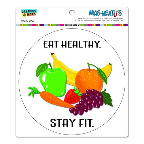 Eat Healthy Stay Fit – Fruits Vegetables Diet Circle MAG-NEATO'STM Automotive Car Refrigerator Locker Vinyl Magnet