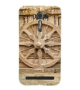 Wheel Of Konark Cute Fashion 3D Hard Polycarbonate Designer Back Case Cover for Asus Zenfone 2 Laser ZE550KL (5.5 INCHES)